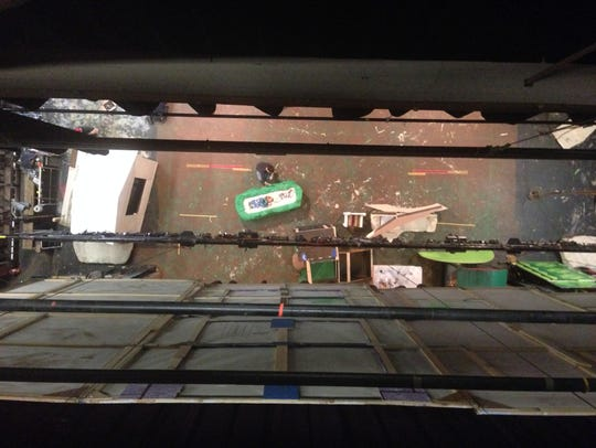 A view for above the Springfield Little Theatre stage