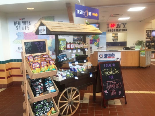The Taste NY store at a rest area in Kirkwood, Broome County, offers New York-made products for sale.