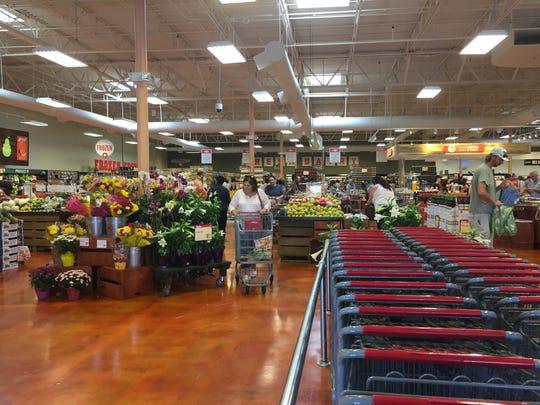 Lucky's Market has an open air market feel.
