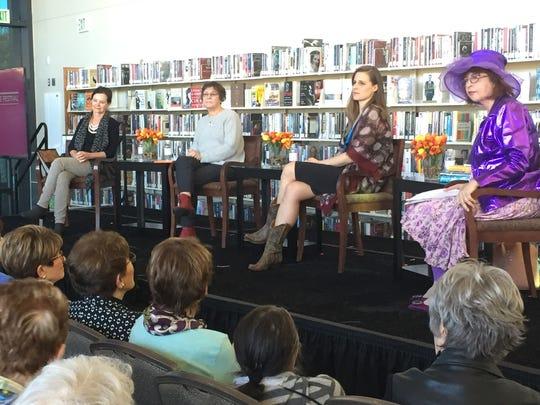 (L to R) Authors Geraldine Brooks, Karen Joy Fowler,
