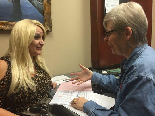 Linda Irizarry (left) of Scottsdale had her tax return