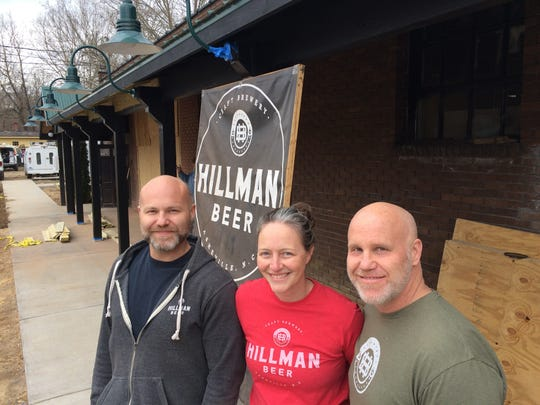 From left, Brad Hillman, Brandi Hillman and her husband, Greig Hillman (Brad's brother), plan to open Hillman Beer on Sweeten Creek Road in April. They think the Asheville beer market still has plenty of room before reaching a saturation point.