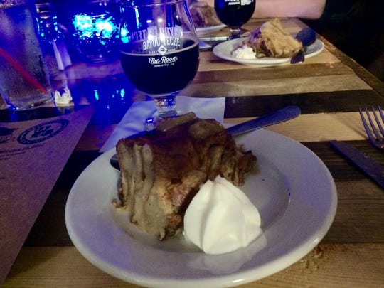 For dessert, 531 Liberty paired a bread pudding with