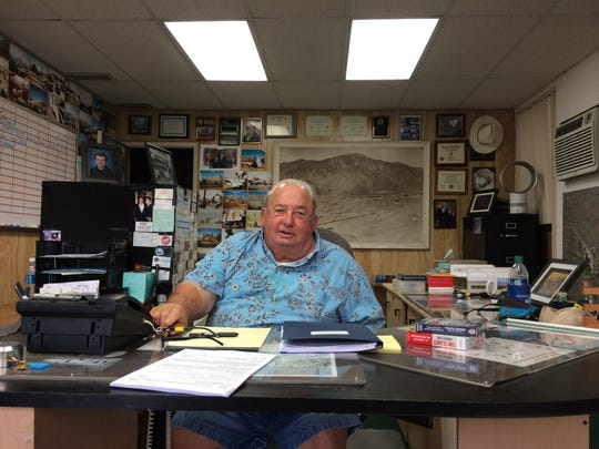 George Marantz, a construction company owner who paid ex-Mayor Steve Pougnet thousands in gifts, is photographed in his office.