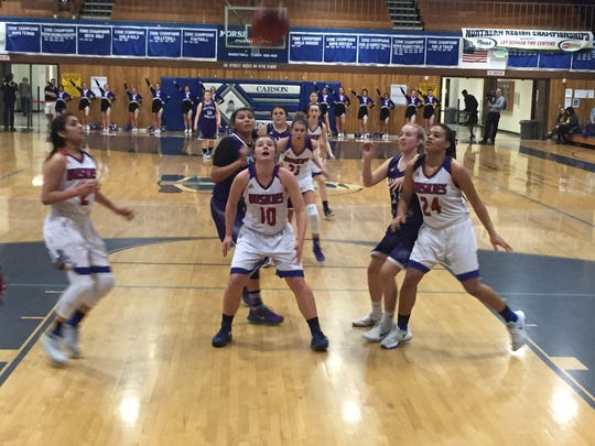 Reno beat Spanish Springs, 51-26, Friday in a girls
