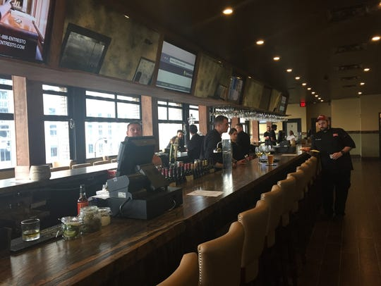 The second-floor bar area at The Diner Nashville.