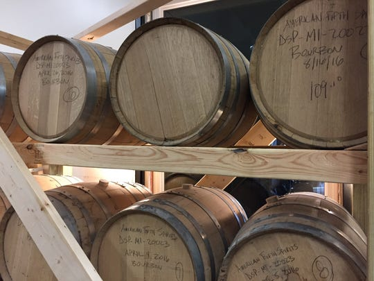 Bourbon is aged in 30-gallon charred white American
