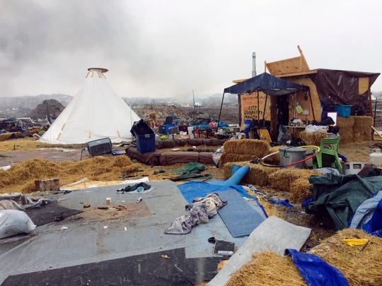 Refuse remains in the Dakota Access pipeline opponents'