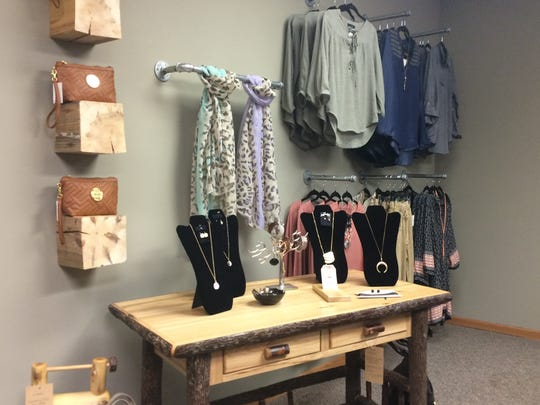 A selection of clothing and accessories at Rustic Redefined