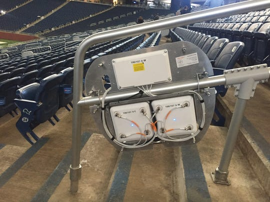 New equipment embedded in handrails at Ford Field helps