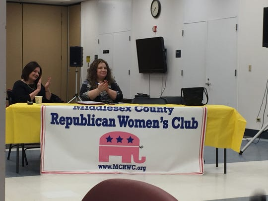 """On Wednesday, the Middlesex County Republican Women's Club gathered in Old Bridge to celebrate the election and inaguration of President Donald Trump. Author and political strategist Roger Stone, who spoke with the group during the 2016 campaign discussed his new book, """"The Making of the President 2016: How Donald Trump  Orchestrated a Revolution."""""""