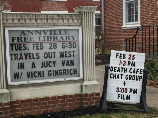The Annville Free Library hosted a Death Cafe Saturday