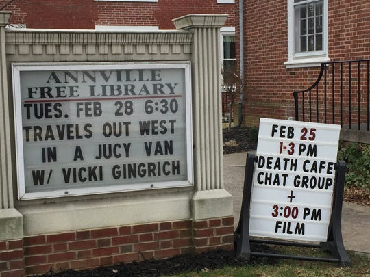 The Annville Free Library hosted a Death Cafe Saturday where people could come and discuss the concept of death while having refreshments.