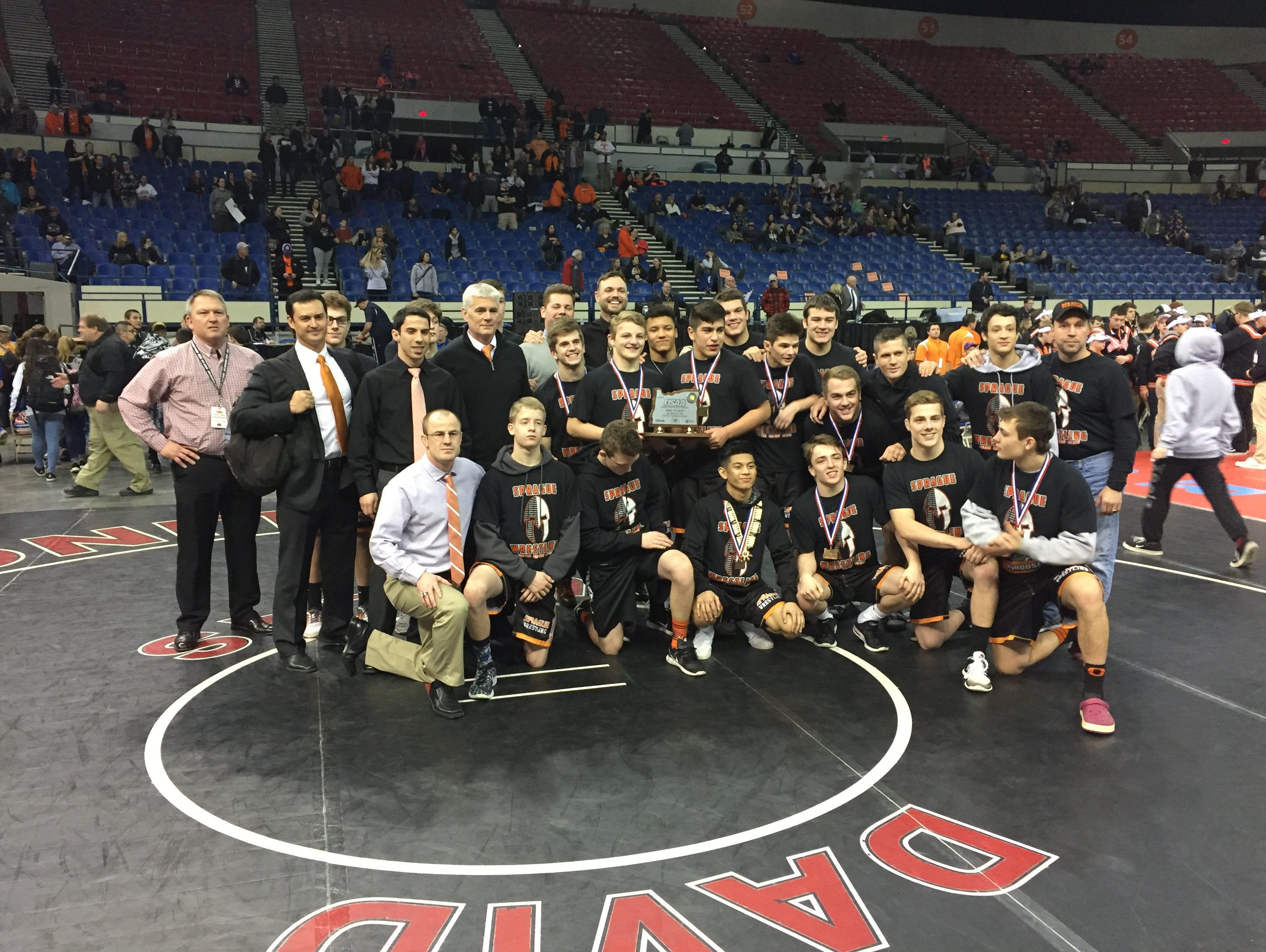 Sprague's wrestling team placed second in the OSAA Class 6A state wrestling tournament.