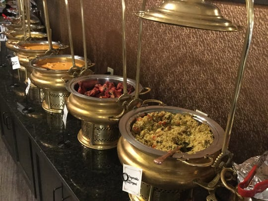 The buffet at Shahi Palace.