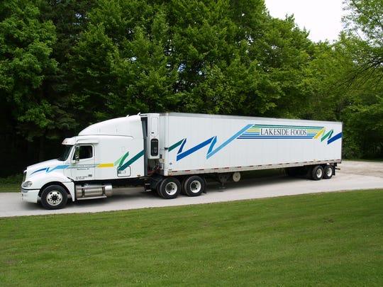 Lakeside Foods semi truck.