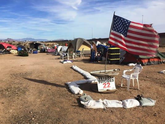 Veterans homeless camp