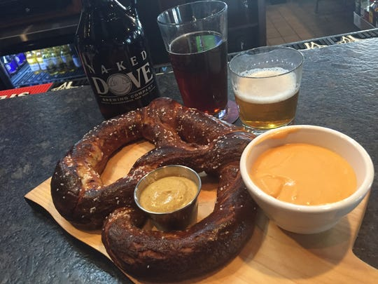 The house-made pretzel at the new Murphy's Law Irish
