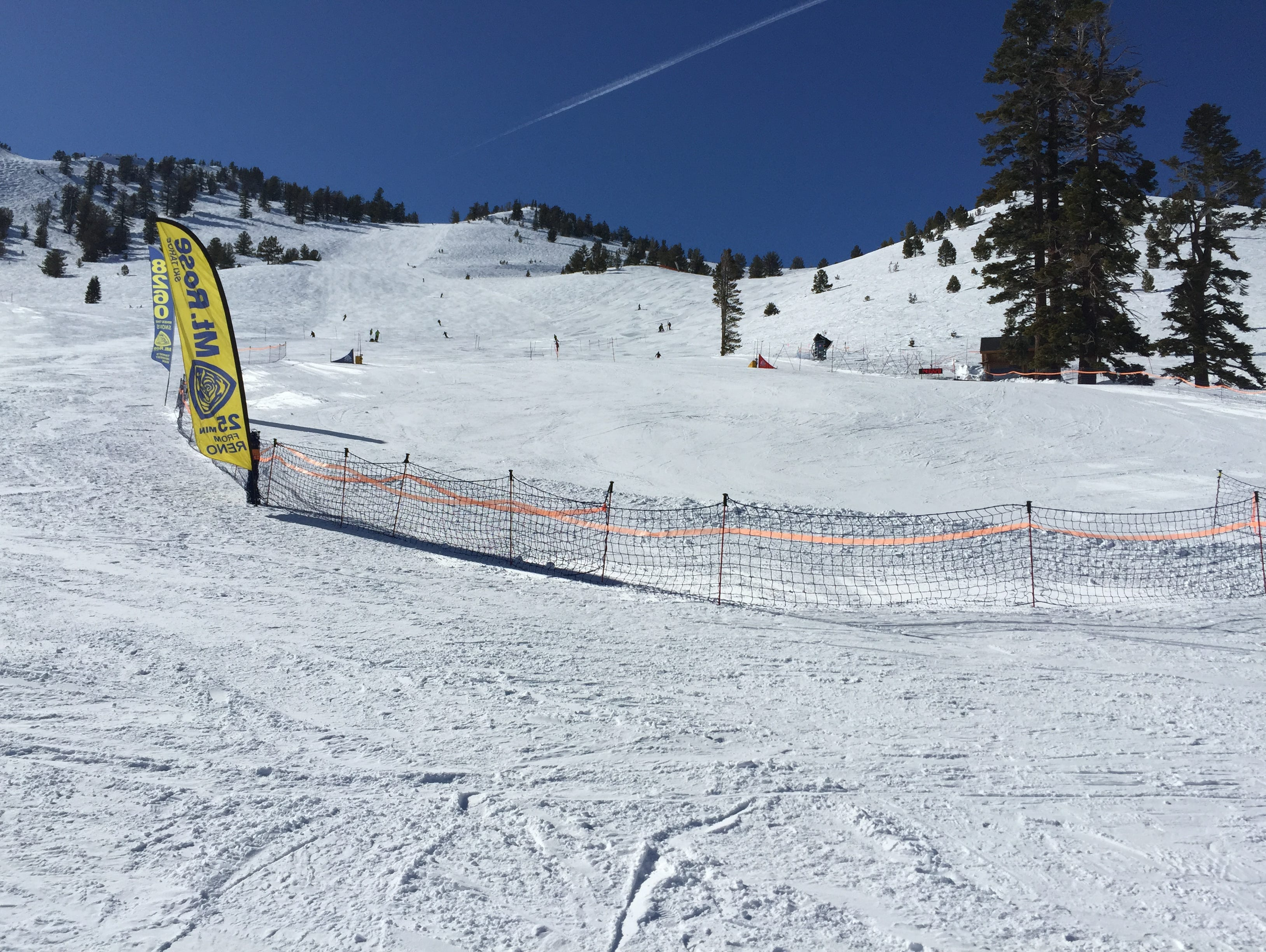 The slalom course at Mt. Rose Wednesday for the NIAA state skiing championship.