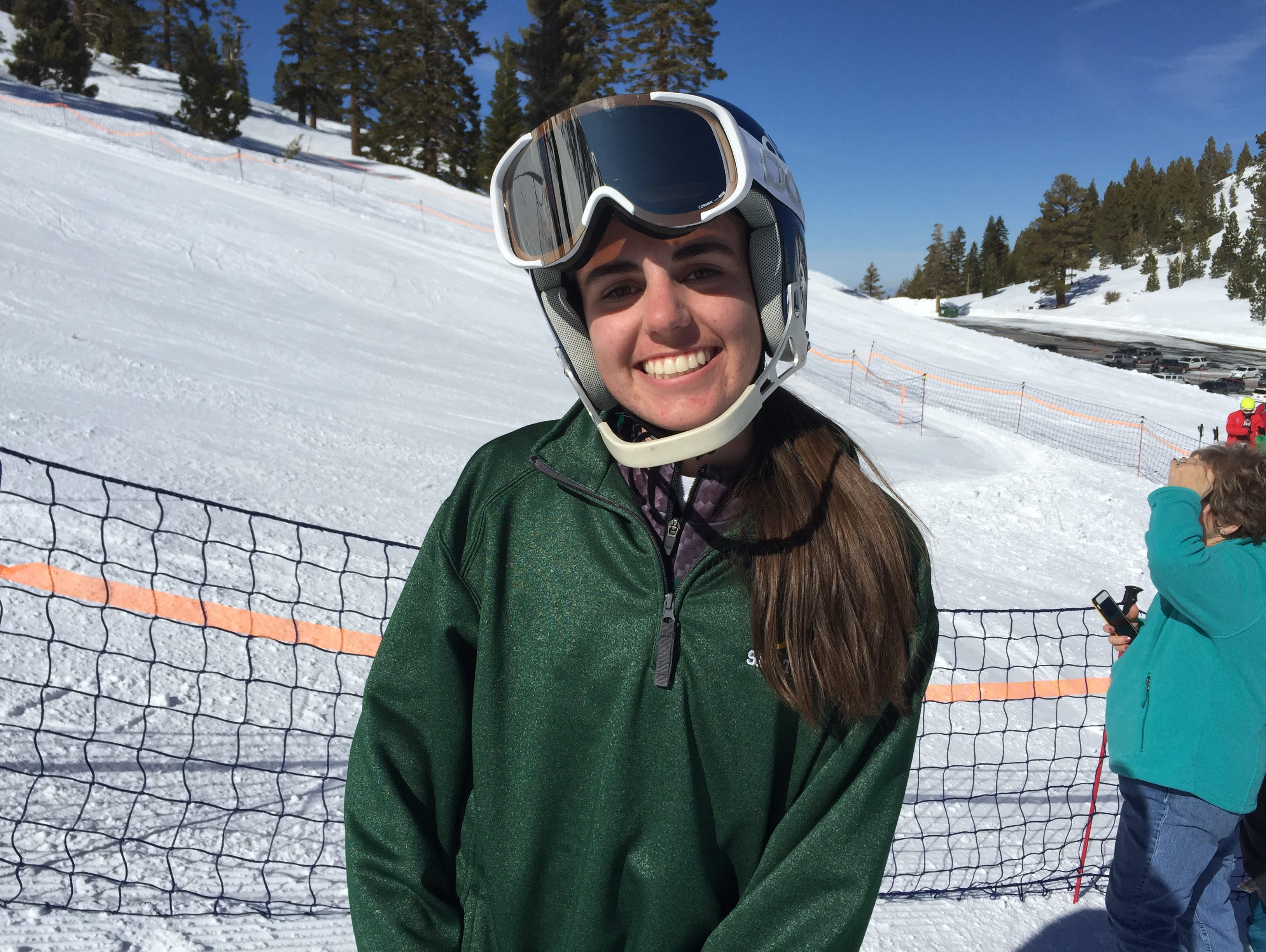 Gigi Taylor from Bishop Manogue won the girls slalom Wednesday in the state ski championships at Mt. Rose.
