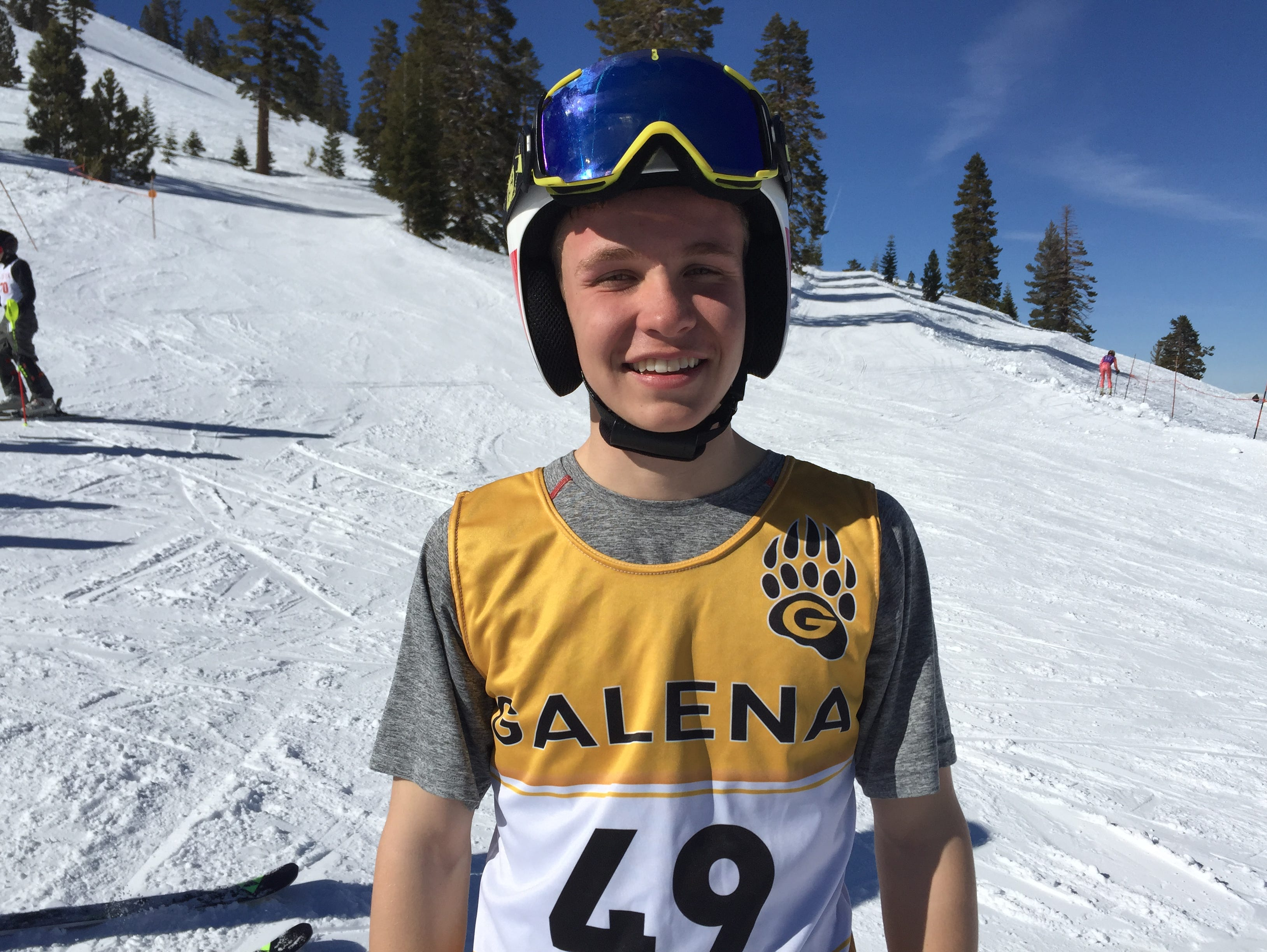 Cole Matteson from Galena won the boys slalom Wednesday in the state ski championships at Mt. Rose.
