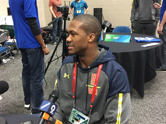 Former U-M receiver Jehu Chesson at the NFL Scouting