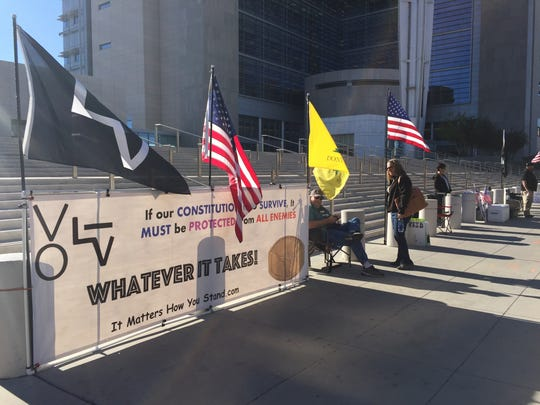 Supporters of Cliven Bundy and others charged in the