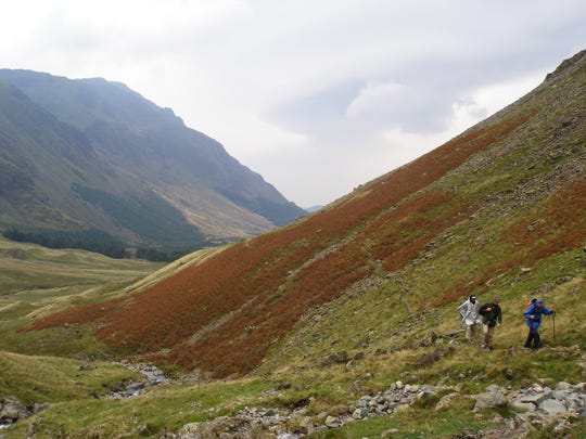 Jonathan Maxwell (in the back) hiking in England's