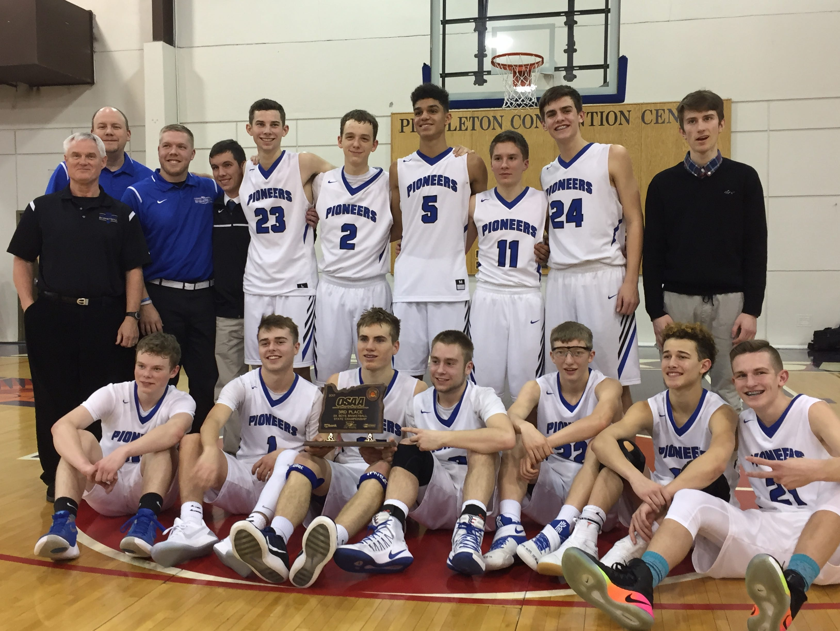 The Western Mennonite boys high school basketball team placed third in the Class 2A boys state tournament.