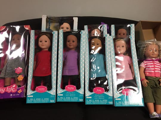 These dolls have all been donated by generous readers,