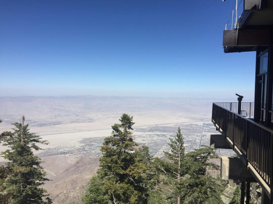 A view looking toward the Coachella Valley from the Palm Springs Aerial Tramway Mountain Station on July 13, 2016.