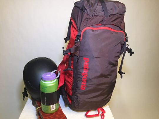 My day pack is a 40-liter Snow Drifter from Patagonia.