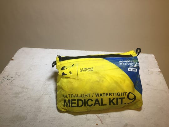 A first aid kit in a waterproof pouch is essential.