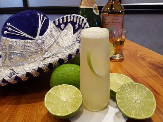 The Champagne Margarita from Sombra Mexican Kitchen combines Casamigos blanco tequila, sparkling wine and agave nectar.