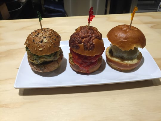 Customers can enjoy a variety of meatball sliders at Polpetta Meatball Cafe.