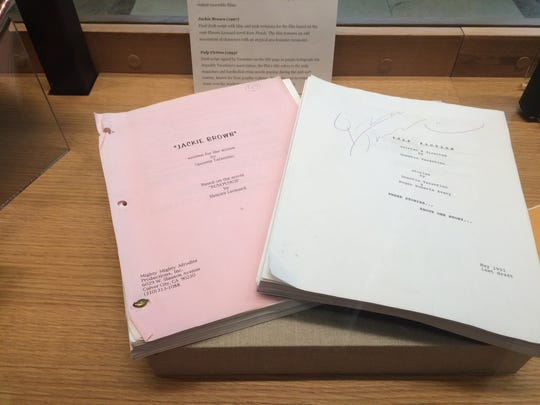 "Scripts for Quentin Tarantino's ""Jackie Brown"" and ""Pulp Fiction"" shown at University of Tennessee's Hodges Library."