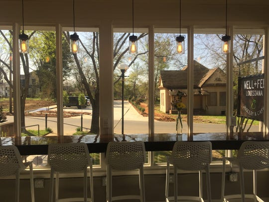 The Well+Fed Louisiana Juicery and Cafe  offers large, window-lit indoor seating and patio seating as well as organic juices.