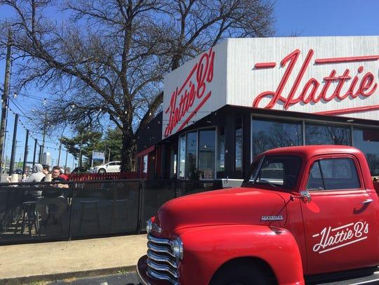 The scene outside Hattie B's Hot Chicken on Charlotte