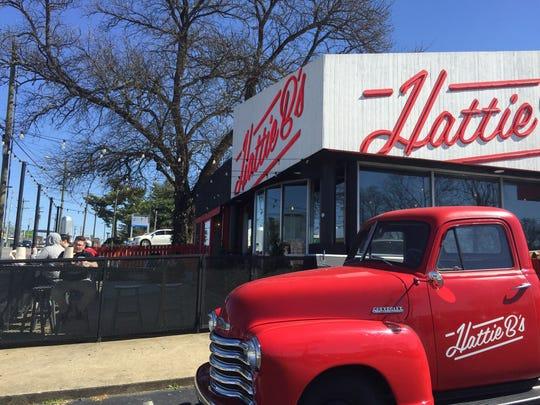 The scene outside Hattie B's Hot Chicken on Charlotte Avenue March 8, 2017.