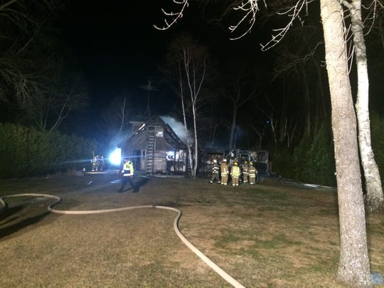 Multiple fire departments responded to a house fire at 7432 W. Kangaroo Lake Road near Baileys Harbor.