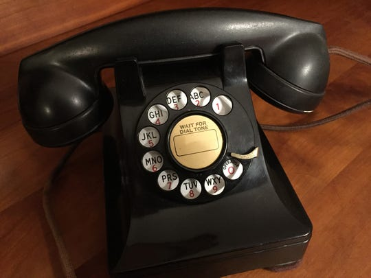 A telephone from the 1940s.