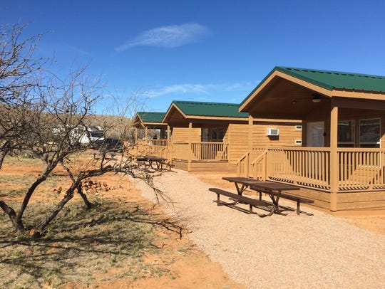 The cabins share space in the Kartchner Caverns State