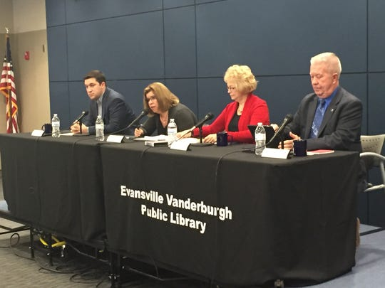State Rep. Ryan Hatfield, state Sen. Vaneta Becker and  state Rep. Ron Bacon attended Saturday's Meet Your Legislators meeting at Central Library.