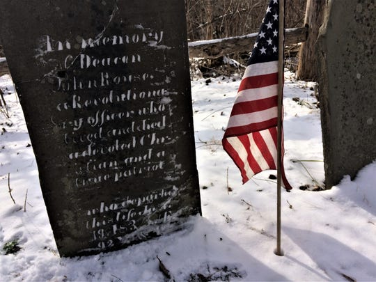 John Rouse's grave in the Rouse Family Cemetery. The