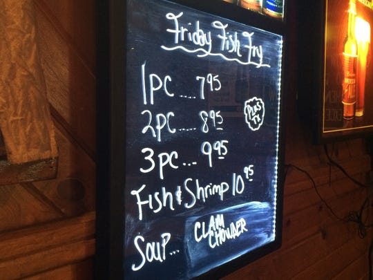 Friday fish fry specials at Sideroads Food & Spirits, 251 25th Ave. N. in Wisconsin Rapids.