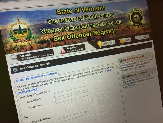 The Vermont Sex Offender Registry has been unable to