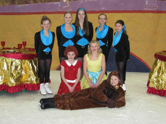 "Manitowoc County Figure Skating Club's 21st annual show is Friday-Sunday at the Ice Center. Pictured: ""I Think I Like It Here in the Ballroom"" cast."