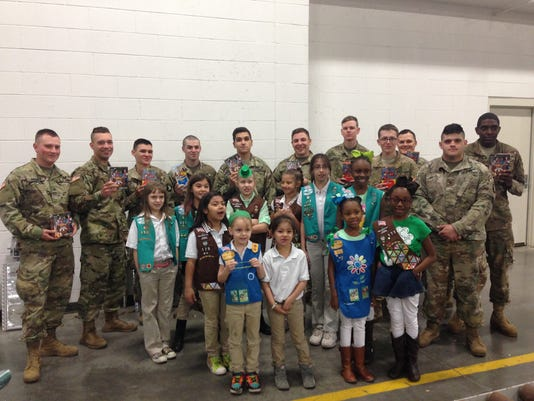 Girl Scouts Donate to Fort Campbell Soldiers