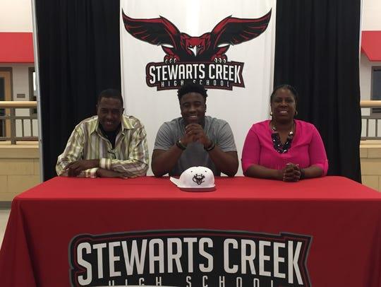 Stewarts Creek football standout Jordan Rouse recently