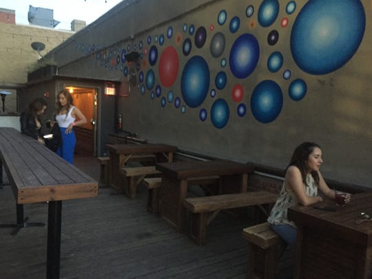 International's rooftop patio overlooks Downtown's San Jacinto Plaza.